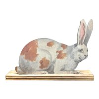 Charming Painting of a Rabbit on Stand - 2 Sided Cut-Out