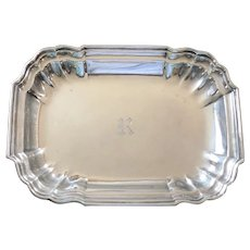 "Sterling Silver Windsor Tray - Meriden Britannia Co. - 12"" x 8 1/2"""