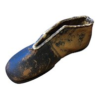 Miniature Hand Made Leather shoe - Circa 1890