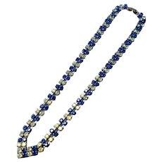 Fun Two Color Rhinestone Necklace - 1950's
