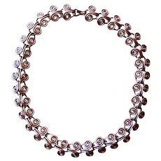 Nice Heavy Copper Chain Necklace - Circa 1960's