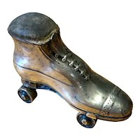 Rare English Silver Pin Cushion in the form of a Roller Skate - 1909