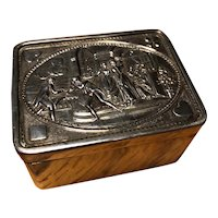 Amazing Sterling Repousse Counter Box with Card Game Scenes