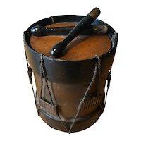 Antique Wooden Drum Shaped Box