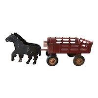 Girard Toy Horse Drawn Wagon - circa 1920's