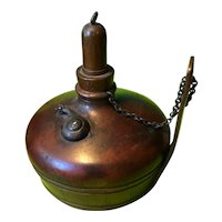 Antique Gorham Oil Lamp Bronze Mixed Metal with Snail - 1883