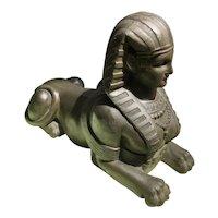 Egyptian Revival Sphinx Sculpture Circa 1920's