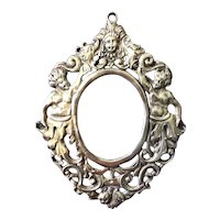 Cast Sterling Silver Frame with Mythological Figures