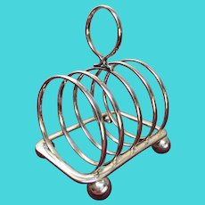 Geometric Design Toast Rack - Silver Plate by Maple & Co of London