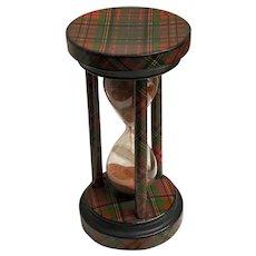 Antique Tartan Ware Timer - Albert Tartan