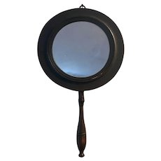 Georgian English Wooden Shaving Mirror - Two Sided