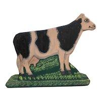 Folk Art Cow By Menno Z. Shirk of Lancaster Pennsylvania