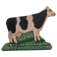 Folk Art Cow By Menno Z. Shirk of Lancaster Pennsylvania