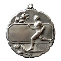 Handsome Sterling Silver Running Medal for a Relay Race - circa 1920's / 30's