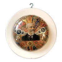 Amazing Cigar Band Art Wall Plaque with Havana Cigar Bands -Circa 1910