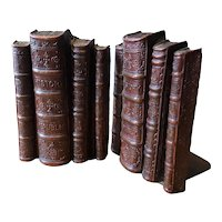 Syroco Wood Bookends - Shaped like a Stack of Books - Circa 1940's