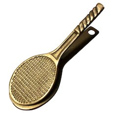 Brass Tennis Racket Letter Clip - for a Sporty Desk