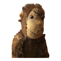 """Sweet Small Mohair Schuco Monkey - 4 1/2"""" High - Moving Head and Limbs"""