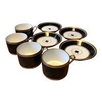 Four Richard Ginori Contessa Porcelain Tea Cups and Saucers - Mid Century Italian