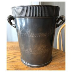Rare G.H. Mumm & Co. Champagne Bucket - Simpson, Hall, Miller - Quadruple Plate