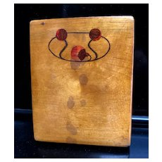Wonderful Russian Avant-Garde Wooden Card Case with Inlay - Vladivostok 1919