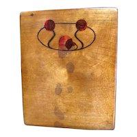 Wonderful Russian Avant-Garde Wooden Card Case with Inlay - Vladivostok 1919