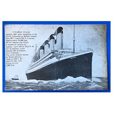 Antique Postcard of the Titanic - 1912