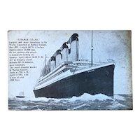 Antique Postcard of the Titanic - 1912