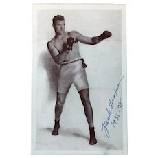 Jack Dempsey's Restaurant Card - with Autographed Photo