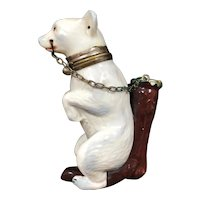 Rare Figural Porcelain Pipe In The Form of a Polar Bear - Late 19th Century