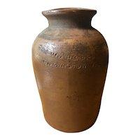 William Hare Stoneware Crock - Wilmington, Delaware - Mid 19th Century