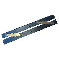 Antique Parallel Rulers - Nautical Navigational - Brass & Ebony