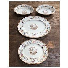 Four Royal Doulton Serving Pieces - Two Bowls - 2 Platters - The Beaufort Pattern