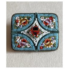Pretty Micro Mosaic Pin with Flowers