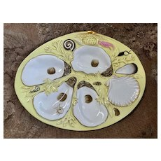 Wonderful Porcelain Antique Oyster Plate - Union Porcelain Works