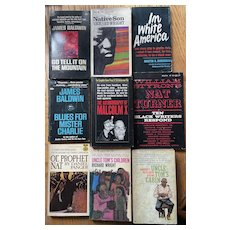 Group of 9 African American Paperback Books Published in the 1960's