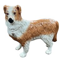 Sweet Large Staffordshire Pottery Dog - Late 19th century