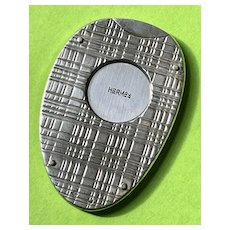 Hermes Sterling Silver Pocket Guillotine Cigar Cutter