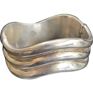 Great Heavy Clamper Bangle - Mexican Sterling Silver