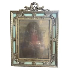 Extraordinary Large Antique Gilt Bronze French Picture Frame