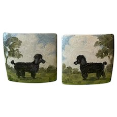 Unique Hand Painted Poodle Clip-on Earrings