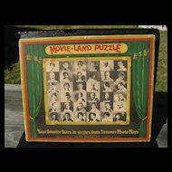 """""""Movie-Land Puzzle"""" Milton Bradley Co. 1926 - Jig Saw Puzzle with Our Gang Comedy"""