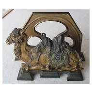 Cast Iron Camel Letter Holder - circa 1900