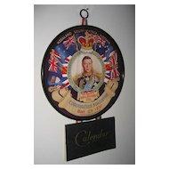 King Edward Vlll Coronation Souvenir Wall Calendar 1937