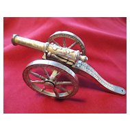 "English Silver Plated Cannon 6"" Model"