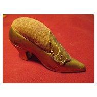 Shoe Figural Pin Cushion - Souvenir - Washington D.C. / The Capitol