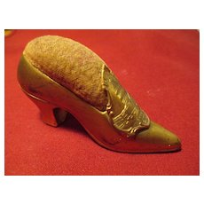 Shoe Figural Pin Cushion - Souvenir - Washington D.C. / The Capitol