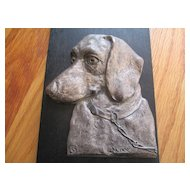 "Great Dachshund Plaque - ""Max"" - 1930's"