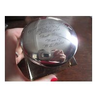 Golf Trophy Inkwell - Won By Wayne E. Stiles - Famous Golf Course Architect and Player 1910
