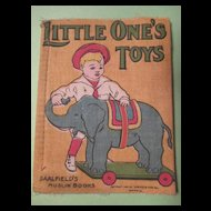 "Muslin Book 1909 - ""Little One's Toys"" - Saalfield's Publisher"